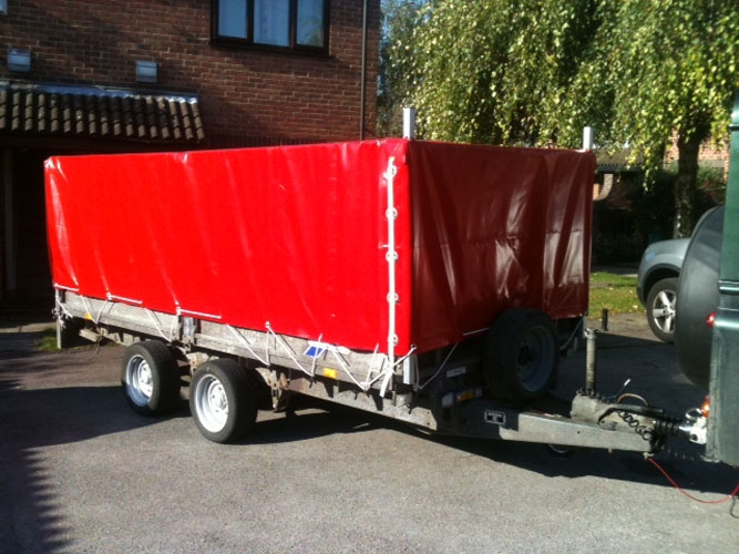 A custom made trailer cover